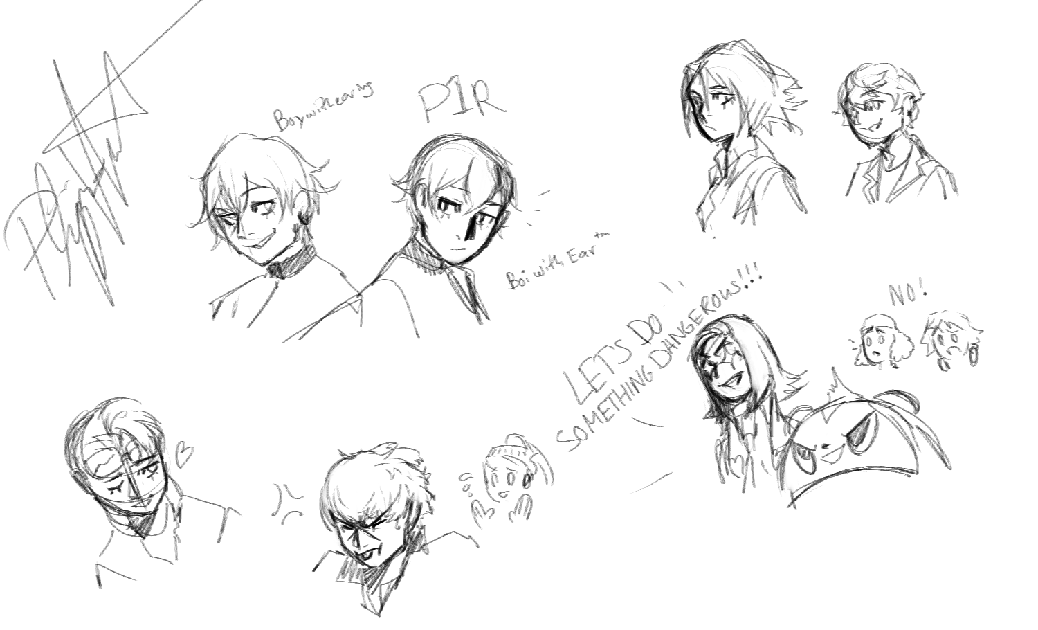 Some midnight persona doodles