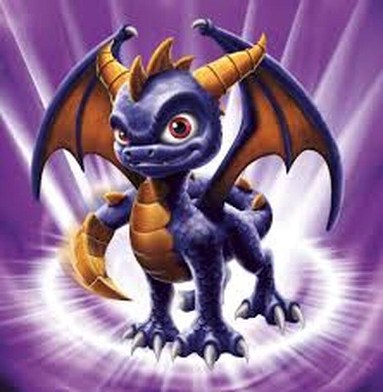 Spyro is a purple dragon. His brother is Dark Spyro.