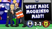 👿MOURINHO SEES RED!👿 Chelsea vs Man Utd 2-2 (Parody Cartoon 2018)