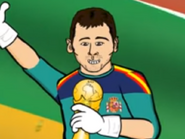 Iker Casillas with the WC