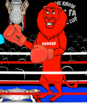 Middlesbrough mascot lion.png