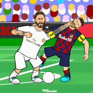 Ramos punching messi