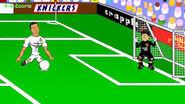 Ronaldo about to score