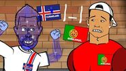 ICELAND BABY! Portugal vs Iceland 1-1 (UEFA Euro 2016 Birkir Bjarnason goal and highlights)