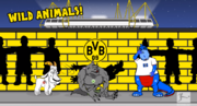Goat Wolfsburg werewolf dinosaur Colonia Hamburger SV dinosaur Yellow Wall.png