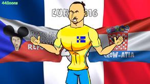 Zlatan Czech Republic Croatia flags