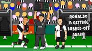 Ronaldo subbed