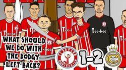 DODGY LEFT BACK! 🏆1-2! Bayern vs Real Madrid!🏆 (Parody goals highlights Champions League 2018)