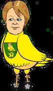 Delia Smith canary bird vehicle