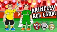 🔴AKINFEEV RED CARD!🔴 Real Madrid lose to CSKA Moscow! 1-0!