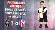 Dybala free kick atletico madrid