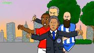 Mourinho Ashley Young Baggie Bird Brighton