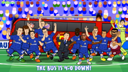Chelsea squad Manchester United bus