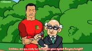 Ronaldo interview Hongrie