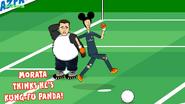 Morata kung fu panda Cech