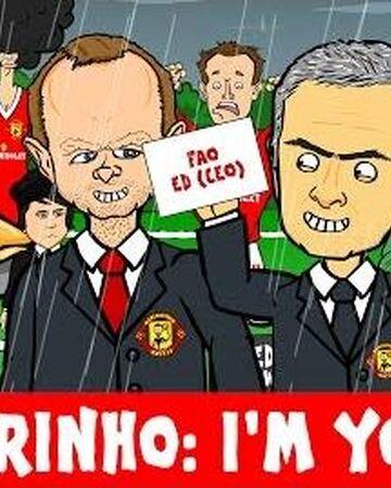 MOURINHO LETTER! I'M YOURS PARODY (LVG sacked? Mourinho to Man utd?) Cartoon
