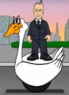 Swansea swan car