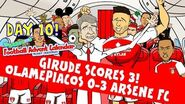 Giroud Hat-trick -Rude Parody! Olympiacos 0-3 Arsenal (Champions League goals highlight Day 10)-1