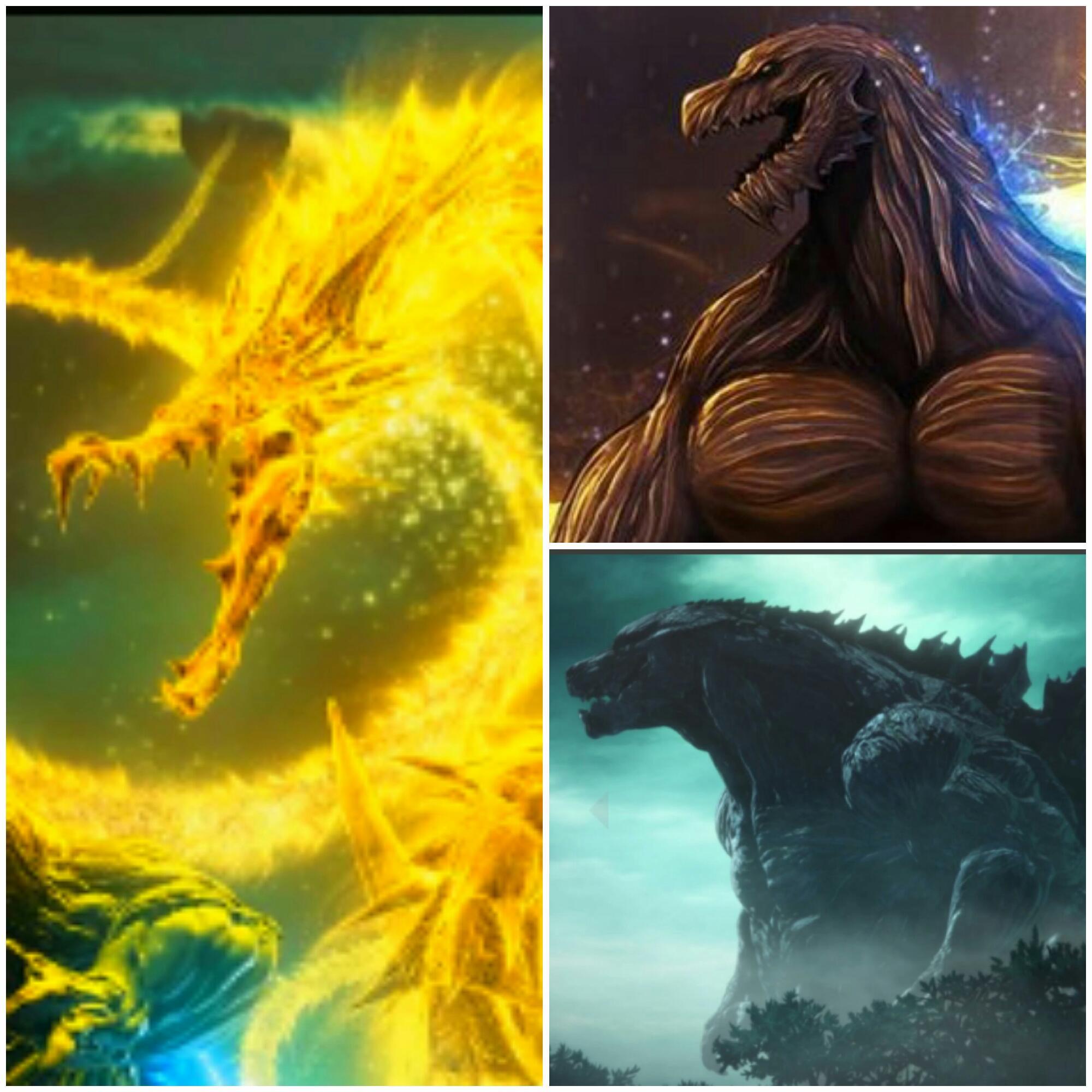 (zarama )king ghidorah vs (yo) godzilla earth y filius
