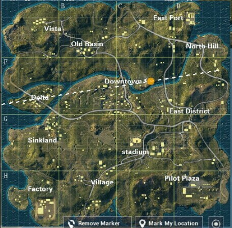 This is PUBG MOBILE LITE's Map