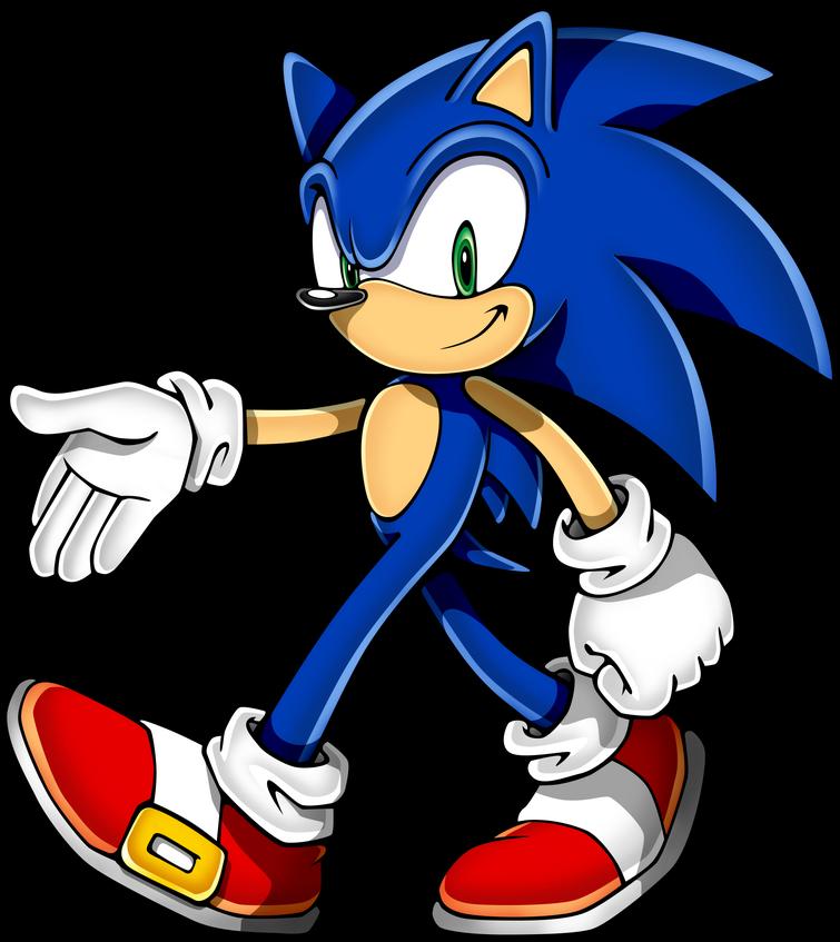 Sonic is a blue hedgehog who befriended the Skylanders.