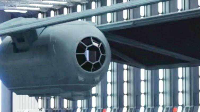 Star Wars Space Battle Skirmish. Tie Fighter, Star Destroyer, and Rebel Fleet