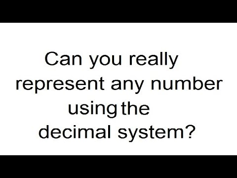 Can you really represent any number using the decimal system?