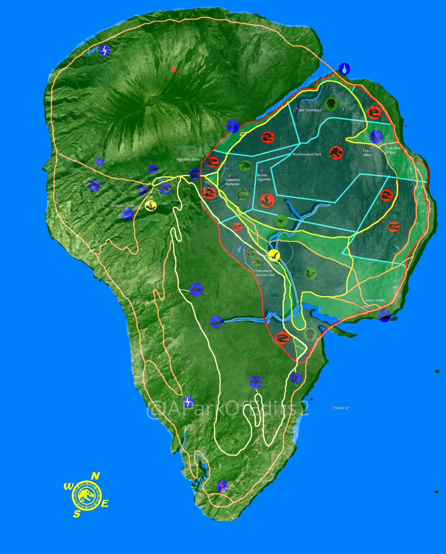 Picture of: Edit 5 Realistic Isla Nublar Map Fandom