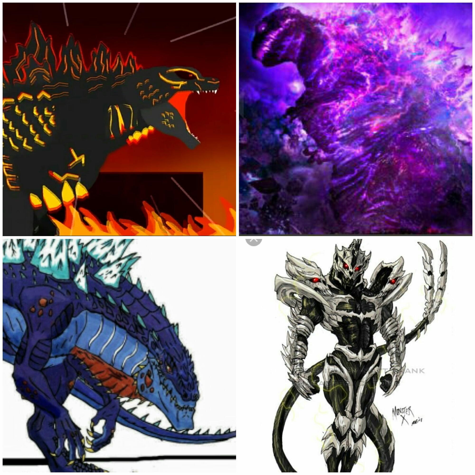fire godzilla y zilla vs shin godzilla y monster x