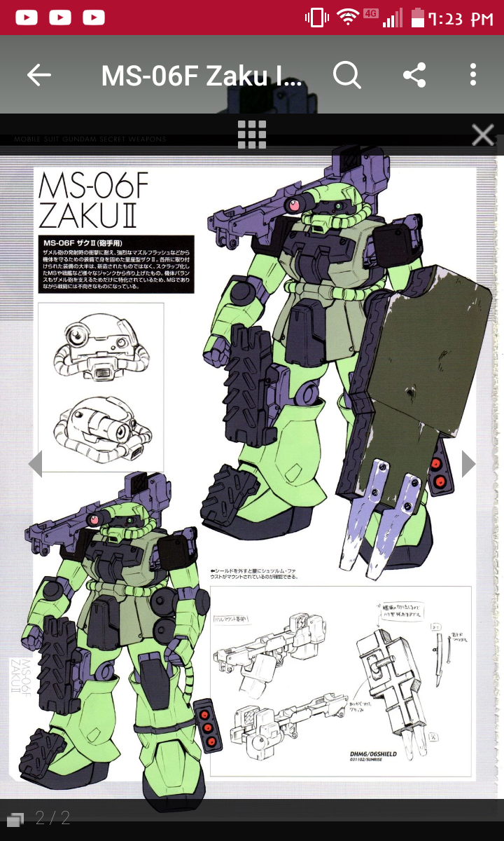 Mod ideas for Dom and Zaku F2