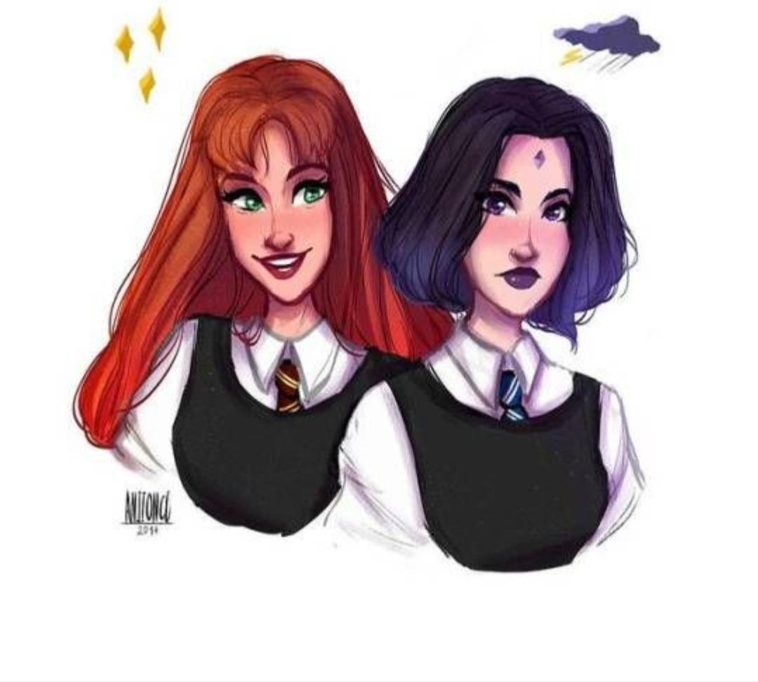 Gryffindor and Ravencalw😍