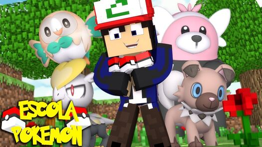 Minecraft : ESCOLA POKEMON - NOVOS POKEMONS #75