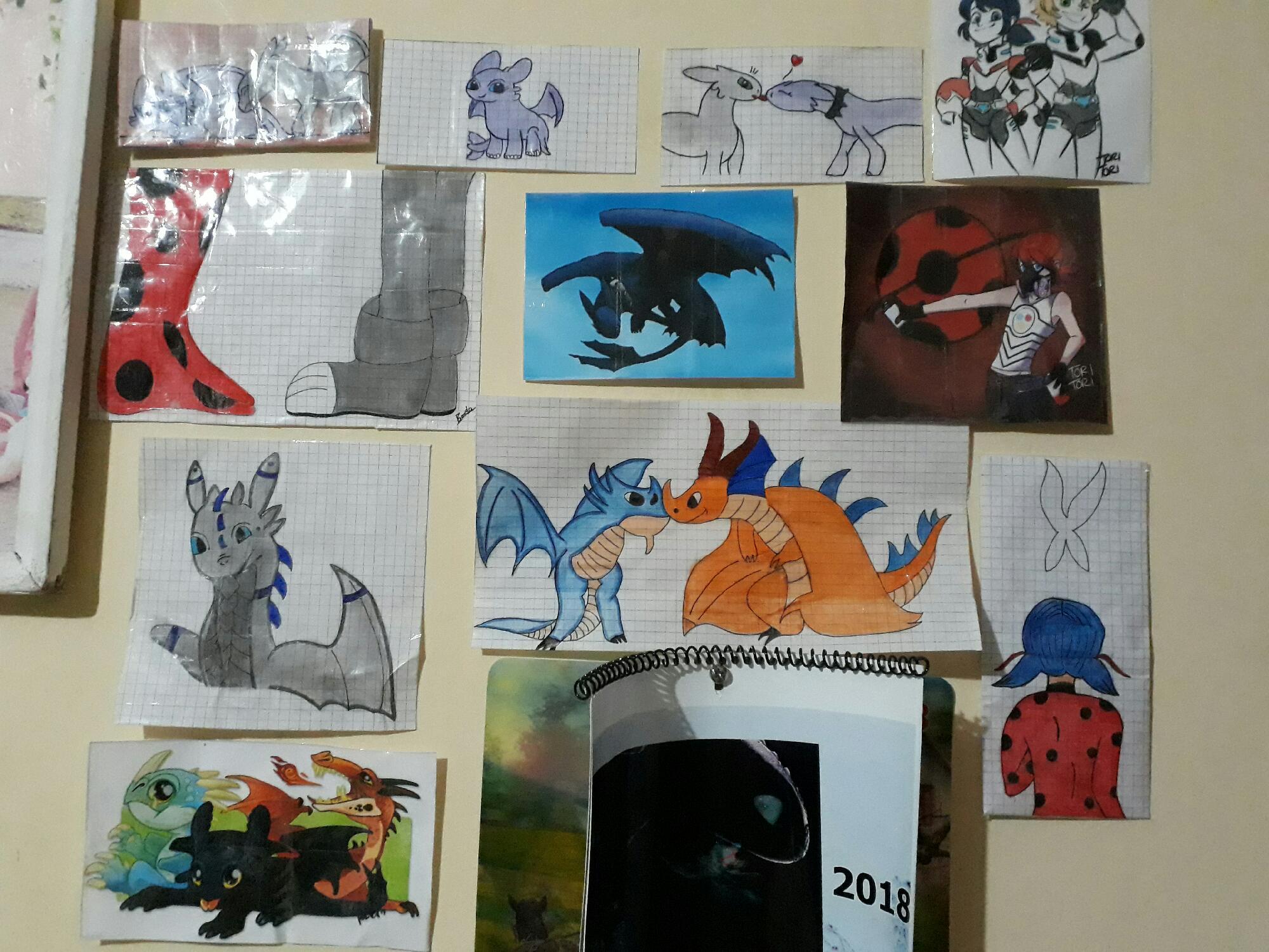 Mis dibujos de dragones y miraculous
