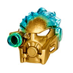 Golden Uniter Mask of Ice Pose