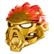 Golden Uniter Mask of Fire Pose