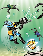 Comic Protector of Water Fighting
