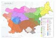 Karta slovenskih narečij ENG