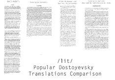 Dostoyevsky Translations Comparison