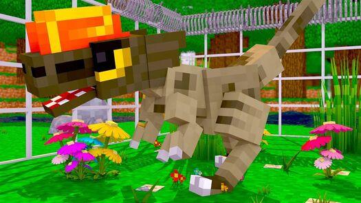 Minecraft - DILOFOSSAURO CARNÍVORO ! - PARQUE DOS DINOSSAUROS 2 ‹ LOKI ›
