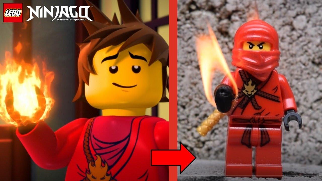 LEGO Ninjago: Kai with REAL Elemental Fire Powers!
