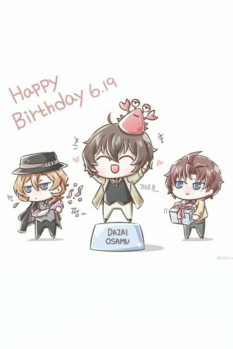 Happy Birthday Dazai Osamu!!!😘🎂♋