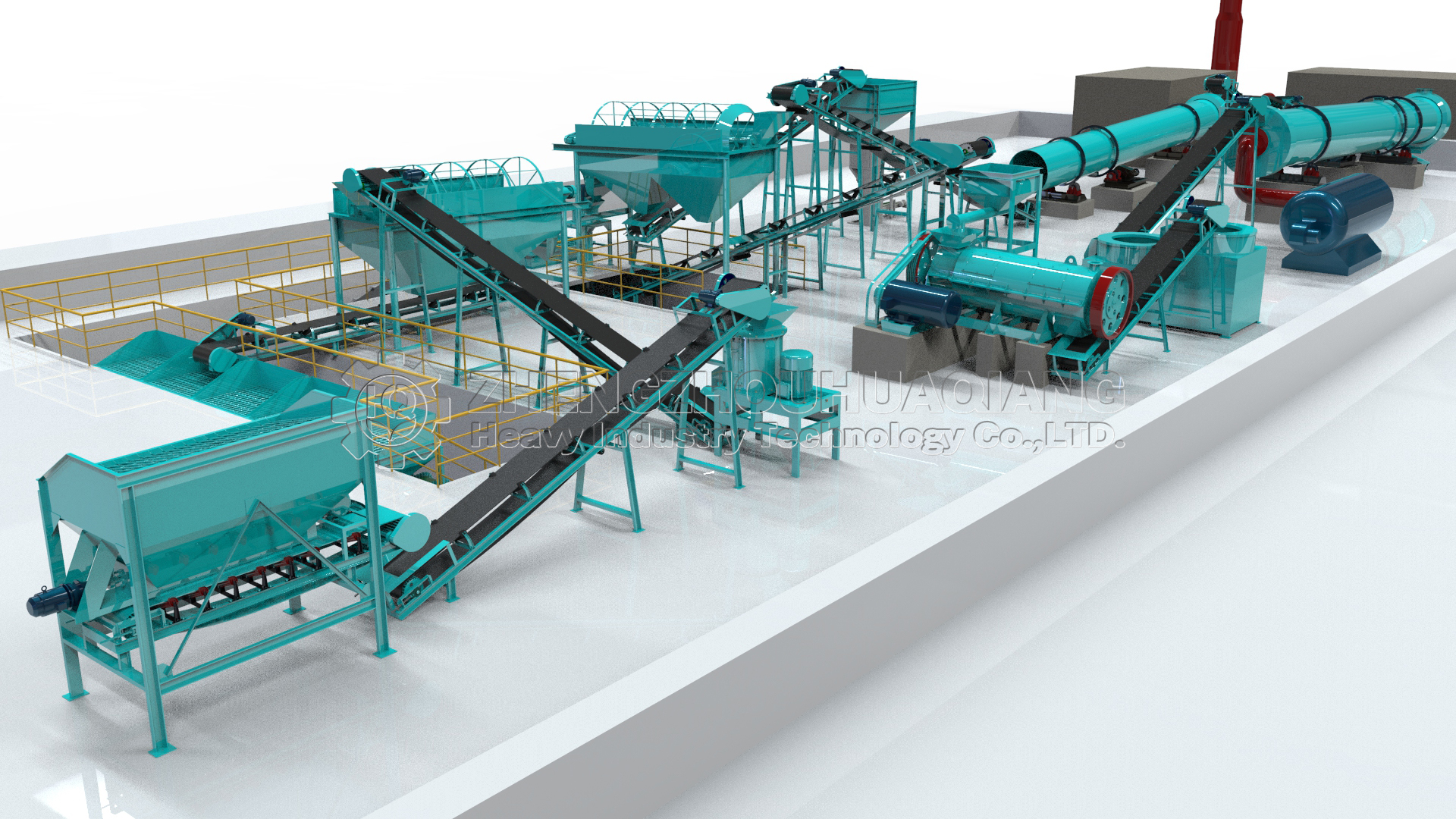 organic fertilizer animal manure production line