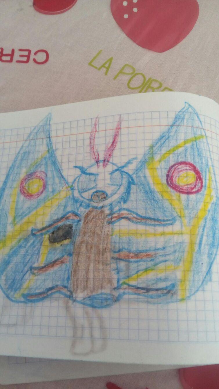 Que tal mi dibujo de mothra