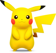 SSB4 - Pikachu Artwork