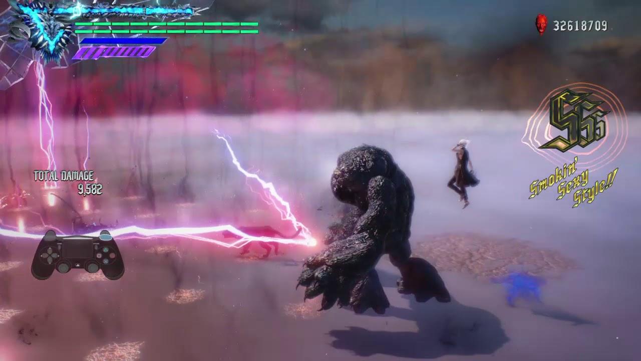 Devil May Cry 5 - Vergil Combo #2.0 (World of V Finisher) Testing