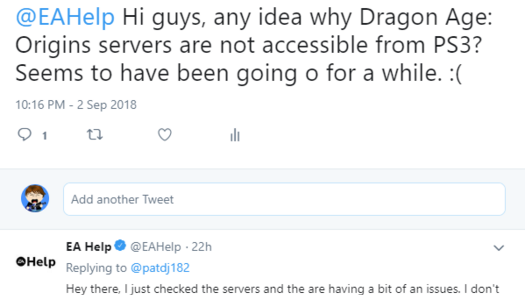 [Known issue] Problem with logging into DA Origins servers