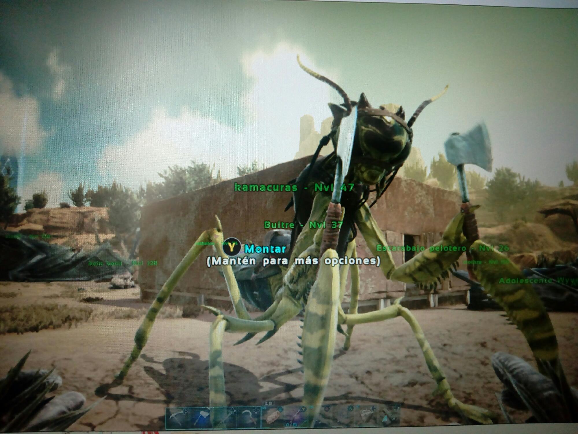 He tameado una mantis