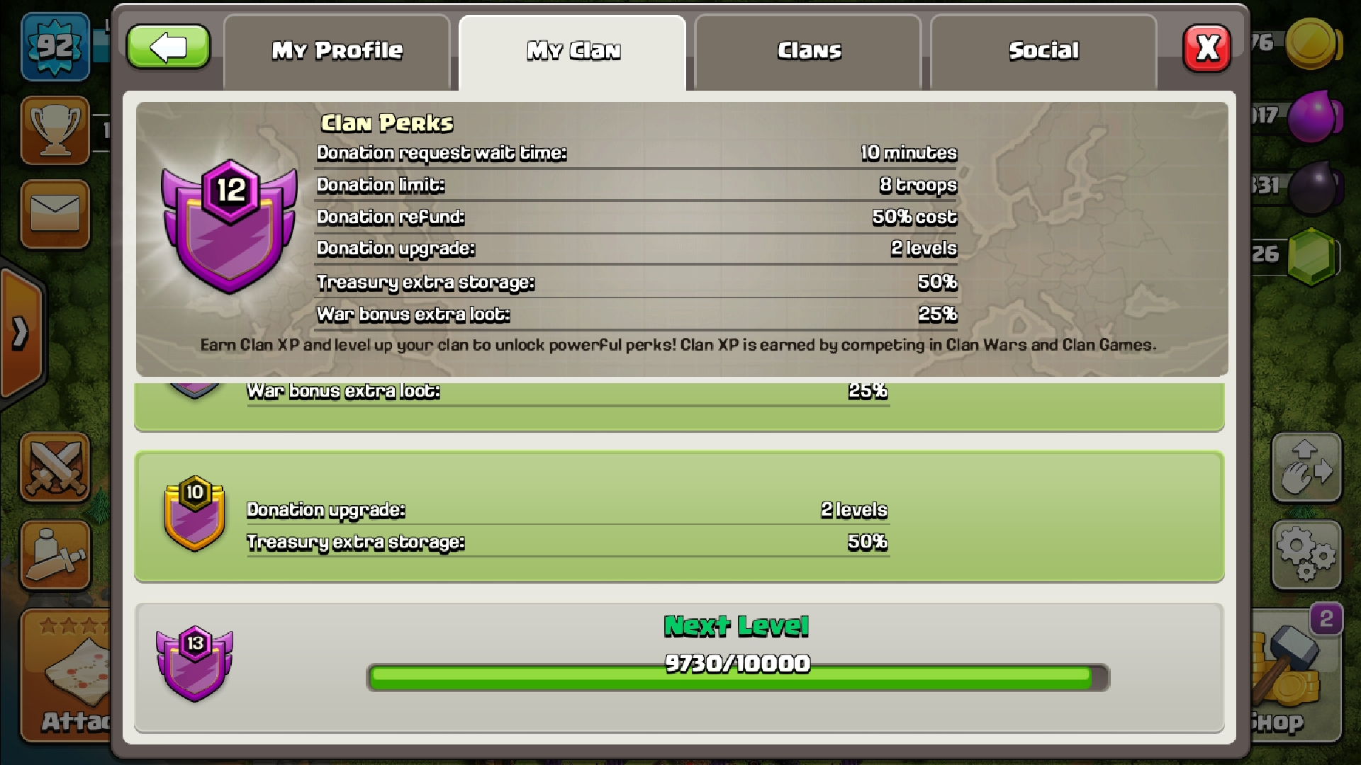 Hi! We need clan mates. Clan: #QYYCVLLL  elder free. Want to have a clan with active members