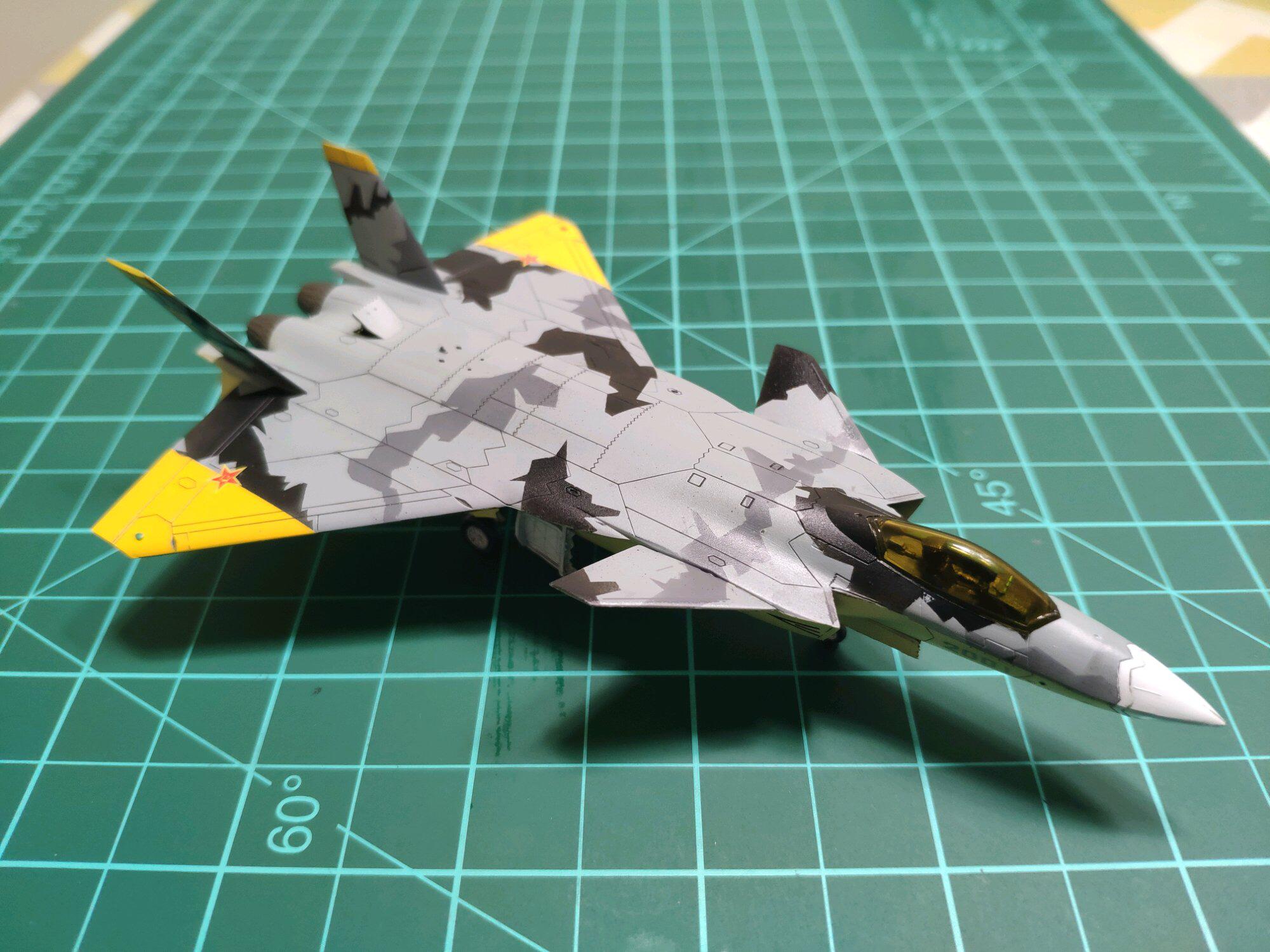 J-20 in Yellow SQ paint scheme