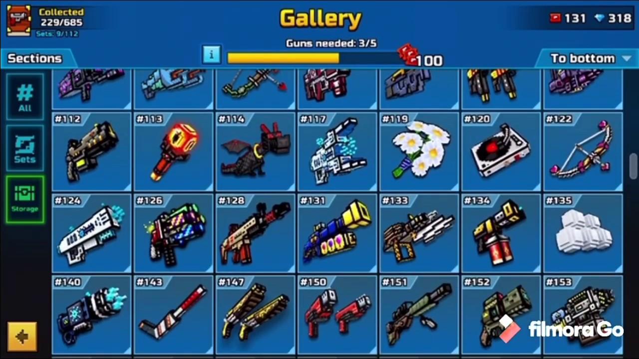 Armory showcase-Pixel Gun 3D